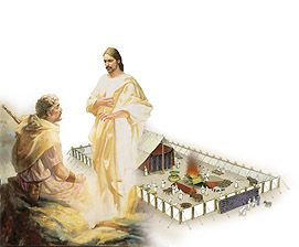 Jesus and Moses at the Transfiguration Discuss the Fulfillment of the Tabernacles Prophesy