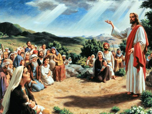 Jesus And The Multitude Jpg