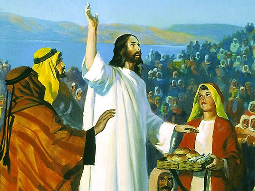 Jesus Prays For The Multitude