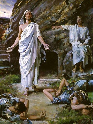 COV NTSIAB LUS NYOB HAUV ZAJ KUV NTSEEG Jesus-at-the-tomb