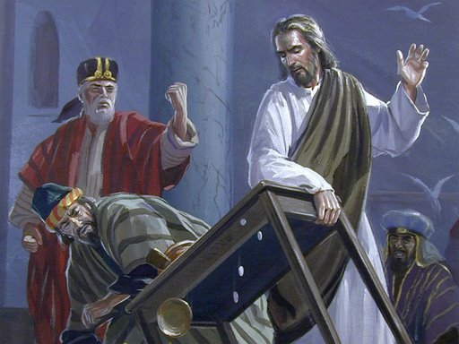 Jesus Turns Over the Merchants Tables