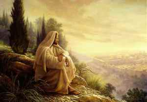 Jesus went to the Mountain to Pray