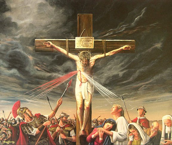 Jesus Sheds His Blood on the Cross