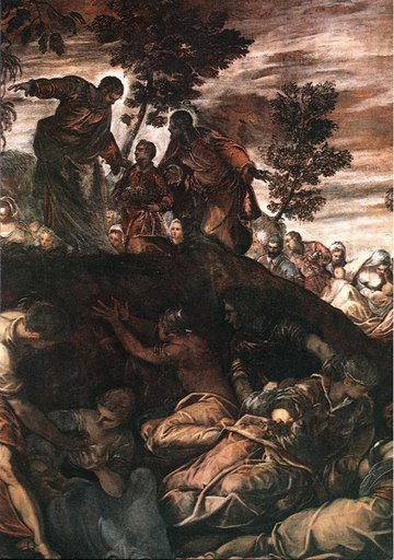 Tintoretto - The Miracle of the Loaves and Fishes