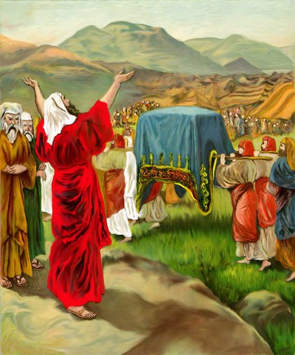 The Ark Leads the People to Canaan