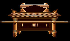 The ark of the covenant covered by cherbim