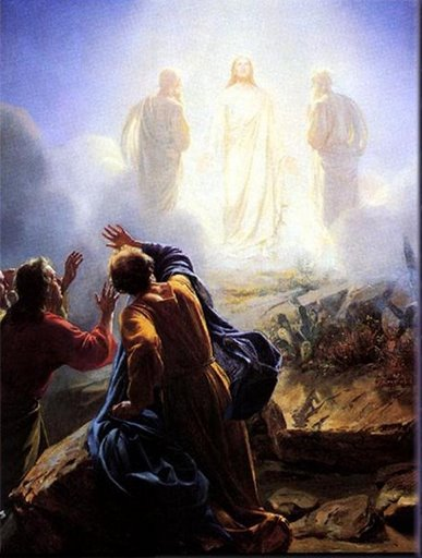 Jesus the Light of the World is Transfigured before His Disciples