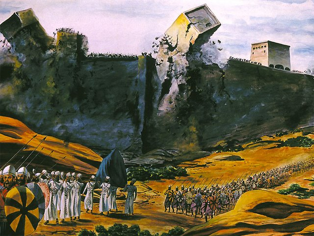 The Walls of Jerico fall Befor the Ark